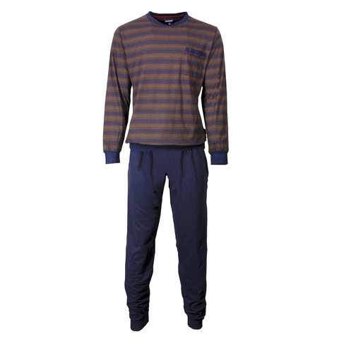 Paul Hopkins Heren Pyjama gestreept Blauw- PHPYH2705A