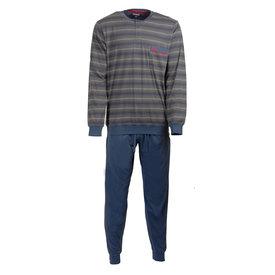 Paul Hopkins Paul Hopkins Heren Pyjama gestreept Blauw- PHPYH2707B