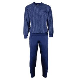 Paul Hopkins Paul Hopkins Heren Pyjama Dessin print Blauw- PHPYH2702A