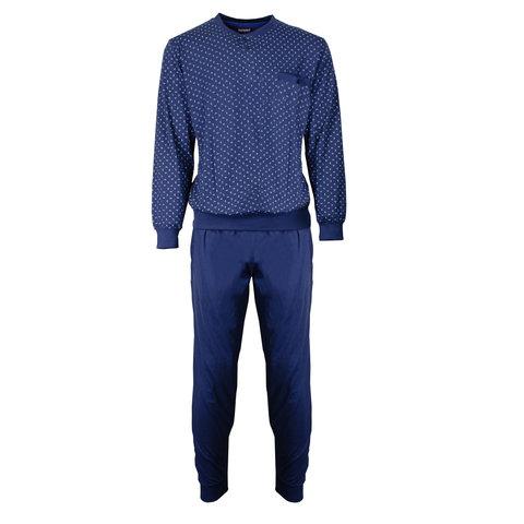 Paul Hopkins Heren Pyjama Dessin print Blauw- PHPYH2702A