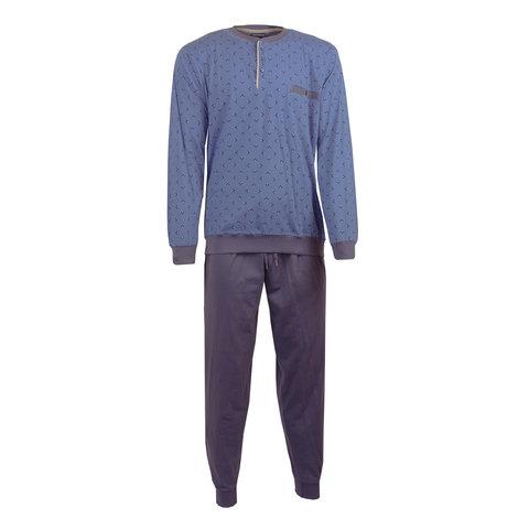 Paul Hopkins Heren Pyjama Dessin print  Licht  Blauw- PHPYH2702B