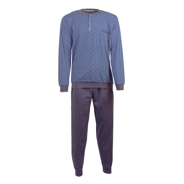 Paul Hopkins Paul Hopkins Heren Pyjama Dessin print  Licht Blauw- PHPYH2702B