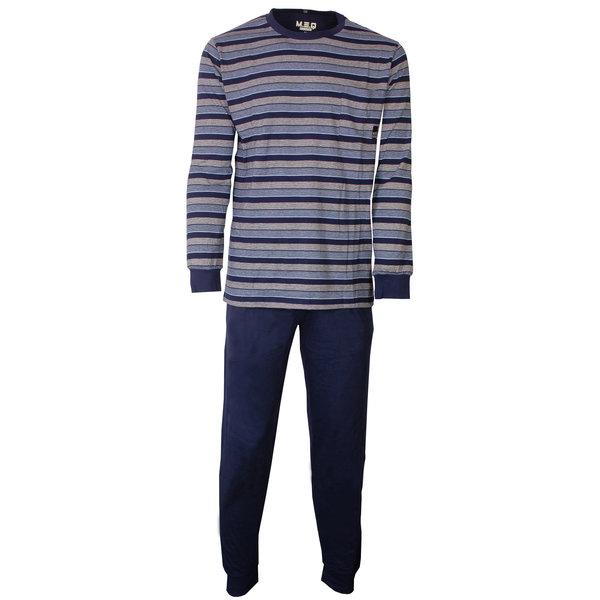 M.E.Q MEQ Heren Pyjama gestreept Blauw- MEPYH1806A