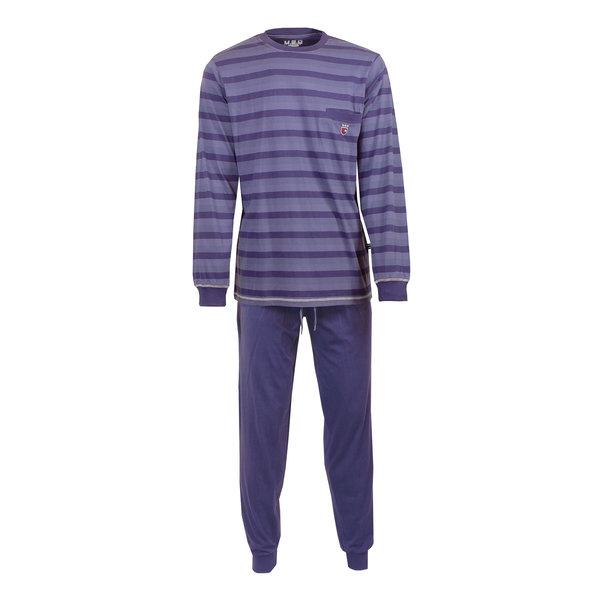 M.E.Q MEQ Heren Pyjama gestreept Blauw- MEPYH2701A
