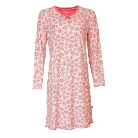 Tenderness Dames nachthemd in Koraal Rose-TENGD2707A