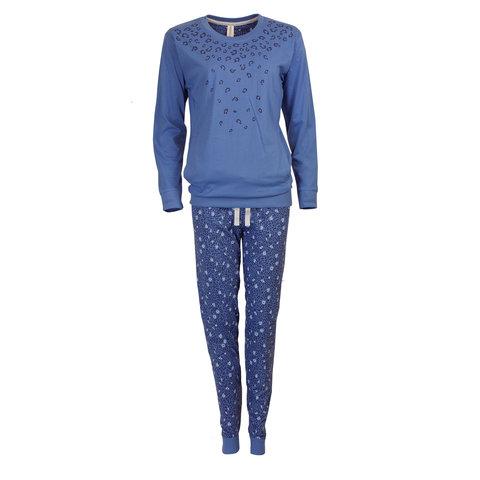 Irresistible Dames pyjama panter blauw-IRPYD2705A
