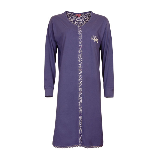 Medaillon Medaillon dames doorknoop nachthemd Indigo Blauw MENGD2709A