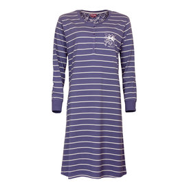 Medaillon Medaillon dames nachthemd blauw gestreept MENGD2708A