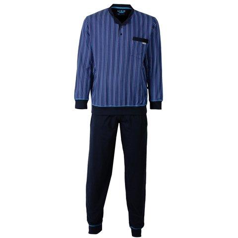 M.E.Q Heren Pyjama Blauw MEPYH2504B