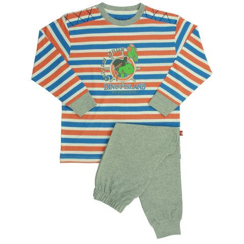 Blue Dock jongens pyjama Grijs melange BDPYX1301A