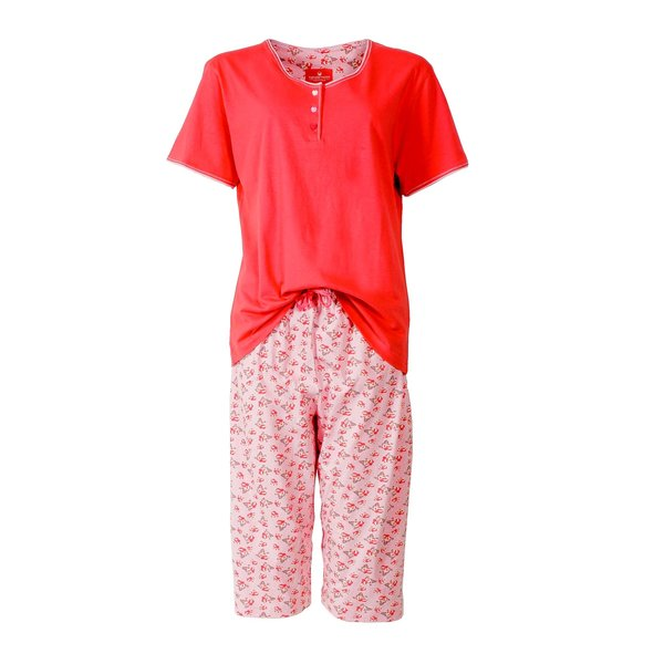 Tenderness Tenderness dames pyjama Rood TEPYD1401B