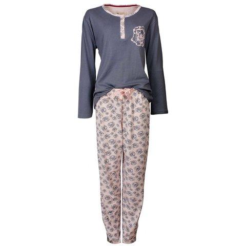 Tenderness Dames Pyjama Grijs TEPYD2404A