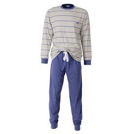 M.E.Q M.E.Q Heren Pyjama Indigo Blauw MEPYH1407B