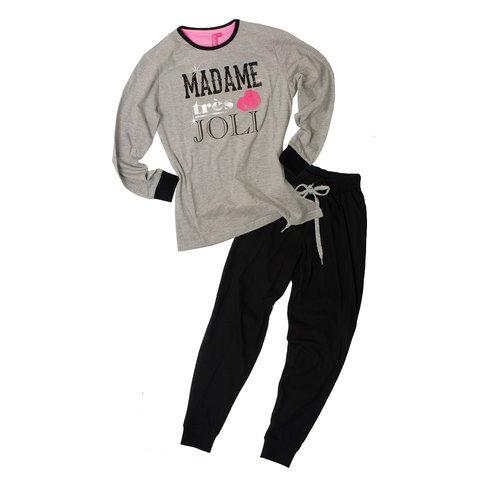 Annarebella meisjes pyjama Grijs-Zwart ANPYM2605A
