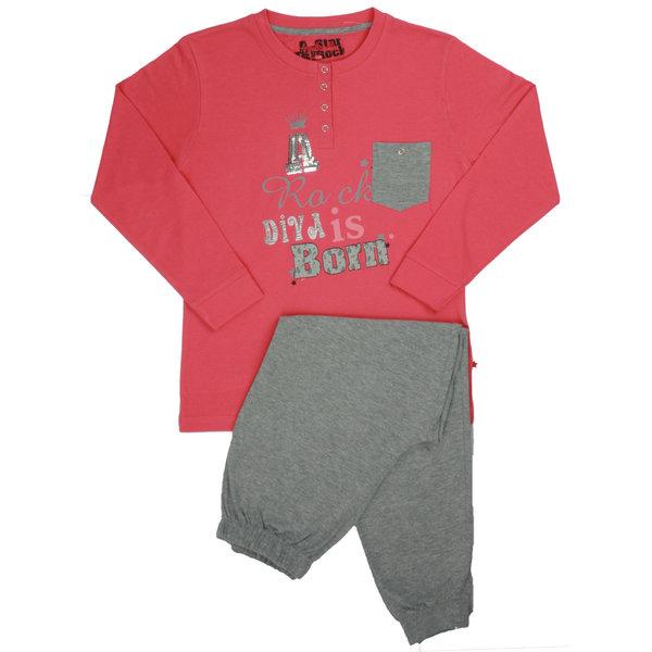AnnaRebella Annarebella meisje pyjama Rood ANPYM1301B