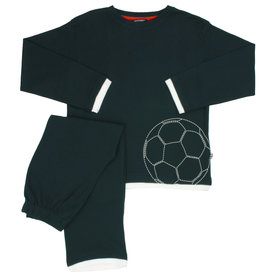 Merkloos Blue Docks Donker Blauw  jongens pyjama voetbal BDPYX2105A