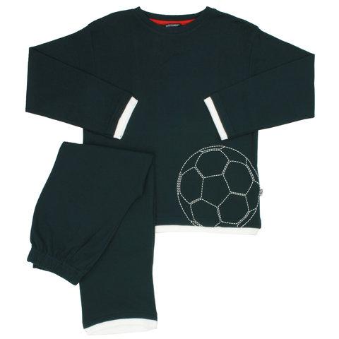Blue Docks Donker Blauw  jongens pyjama voetbal BDPYX2105A