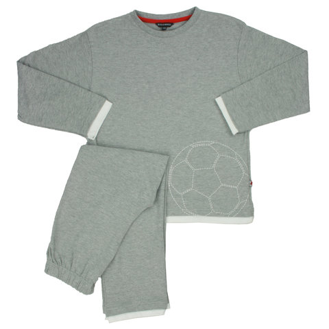 Blue Docks jongens pyjama voetbal Grijs BDPYX2105B