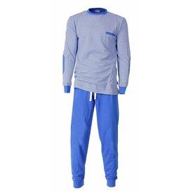 M.E.Q MEQ Heren Pyjama gestreept Licht Blauw- MEPYH1406A