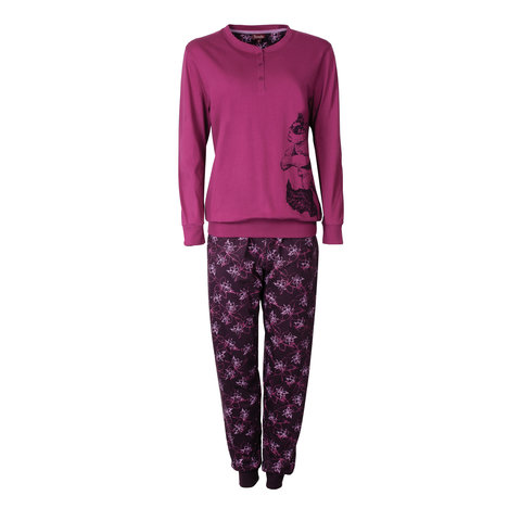 Medaillon Dames Pyjama donker Rose MEPYD2601A