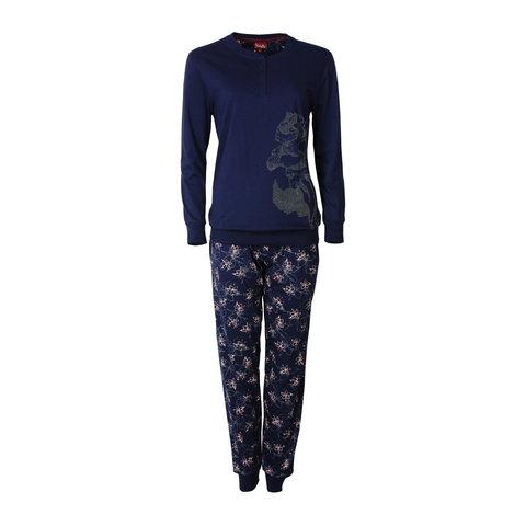 Medaillon Donker Blauw Dames Pyjama  MEPYD2601B