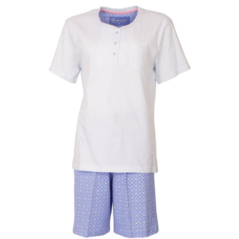 Tenderness dames shortama blauw TESAD1803A