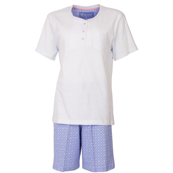 Tenderness Tenderness dames shortama blauw TESAD1803A