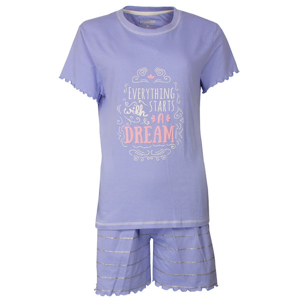 Irresistible Irresistible Dames shortama Lavendel Blauw IRSAD1802A