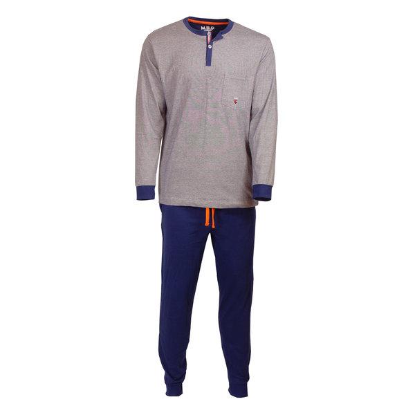 M.E.Q M.E.Q. Heren pyjama donker blauw streepje MEPYH1809B
