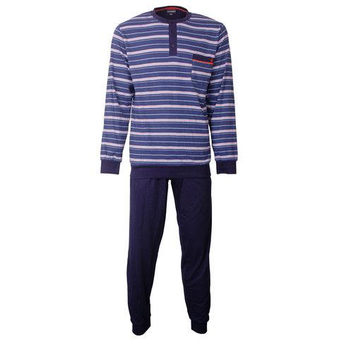 Paul Hopkins Heren Pyjama gestreept Blauw PHPYH1802A