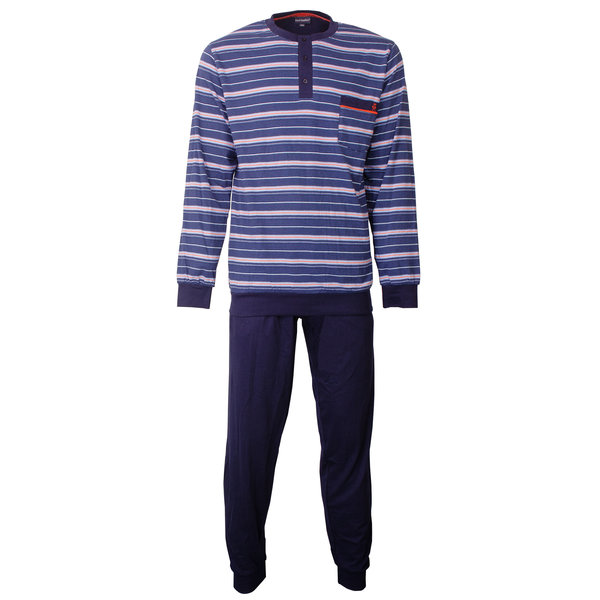 Paul Hopkins Paul Hopkins Heren Pyjama gestreept Blauw PHPYH1802A