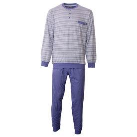 Paul Hopkins Paul Hopkins heren pyjama gestreept Blauw PHPYH1806A