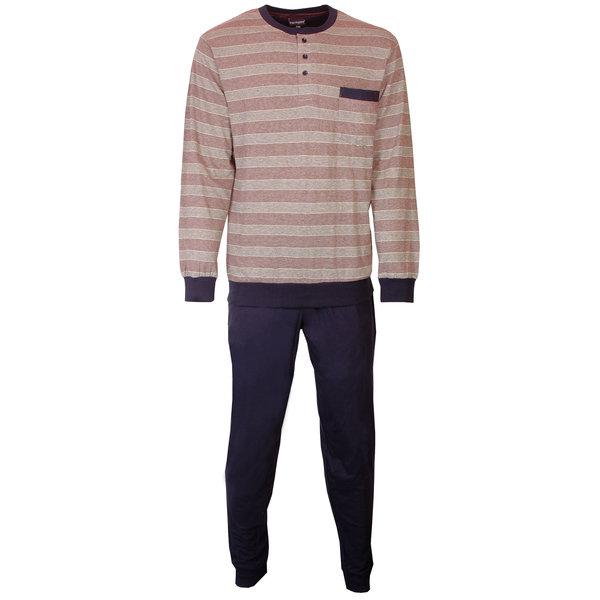 Paul Hopkins Paul Hopkins heren pyjama streep Blauw PHPYH1804A