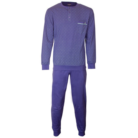 Paul Hopkins Heren Pyjama Blauw PHPYH1805A