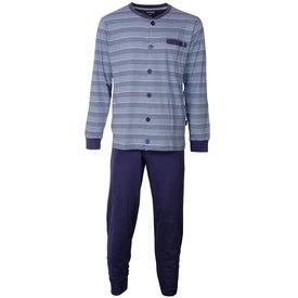 Paul Hopkins Paul Hopkins Heren pyjama doorknoop strepen blauw doorknoop ziekenhuis  PHPYH1808A