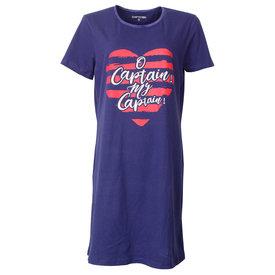 Temptation Temptation  Dames Bigshirt nachthemd slaapkleed Blauw TPNGD1803A