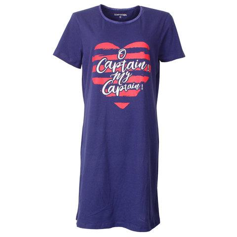 Temptation  Dames Bigshirt nachthemd slaapkleed Blauw TPNGD1803A