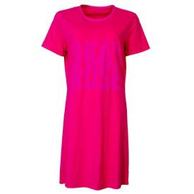 Temptation Temptation  Dames Bigshirt nachthemd slaapkleed Donker Roze TPNGD1805A