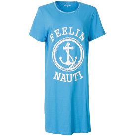 Temptation Temptation  Dames Bigshirt nachthemd slaapkleed Licht Blauw TPNGD1808A