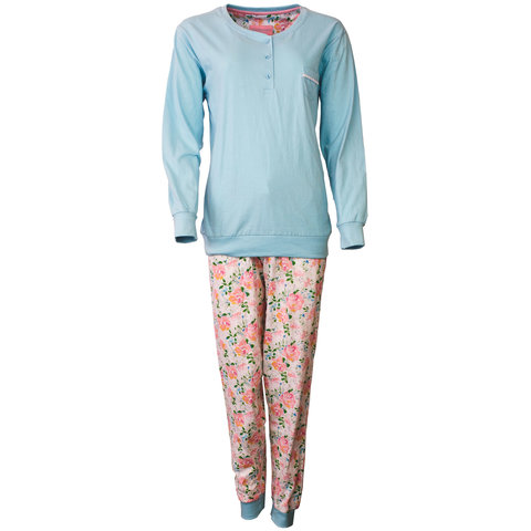 Tenderness Dames Pyjama Licht Blauw TEPYD1802A