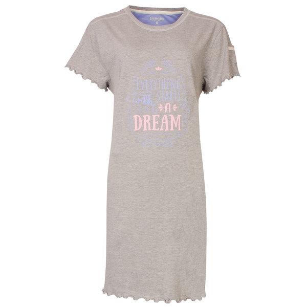 Irresistible Irresistible Dames Nachthemd Slaapkleedje Grijs Melange IRNGD1804A