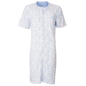 Medaillon Medaillon Dames Nachthemd Bloem Blauw MENGD1802A