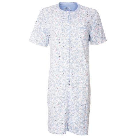 Medaillon Dames Nachthemd Bloem Blauw MENGD1802A