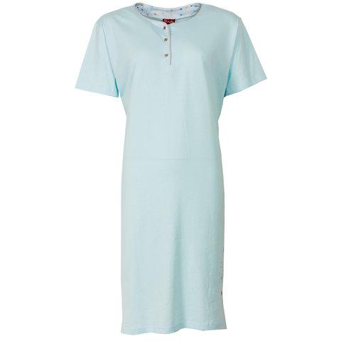 Medaillon dames nachthemd slaapkleedje Blauw MENGD1203B