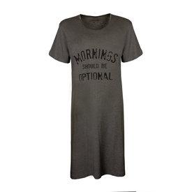 Temptation Temptation  Dames Bigshirt nachthemd slaapkleed Grijs Melange TPNGD1913A