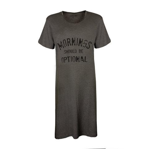 Temptation  Dames Bigshirt nachthemd slaapkleed Grijs Melange TPNGD1913A