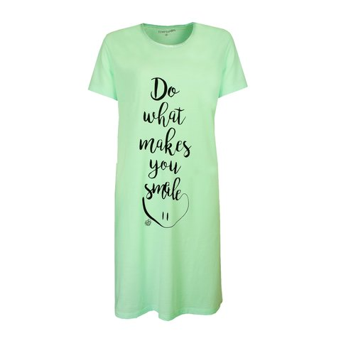 Temptation  Dames Bigshirt nachthemd slaapkleed Aqua Groen TPNGD1916A