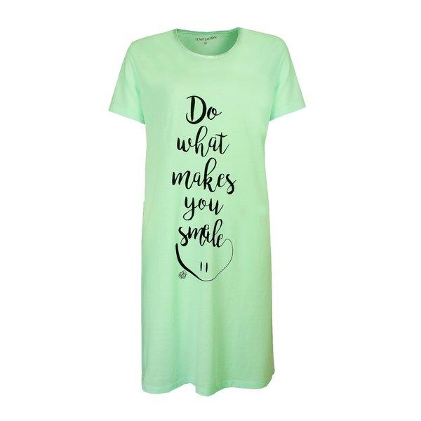 Temptation Temptation  Dames Bigshirt nachthemd slaapkleed Aqua Groen TPNGD1916A