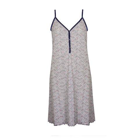 Tenderness  Dames  spaghetti nachthemd slaapkleed Blauw TENGD1906B