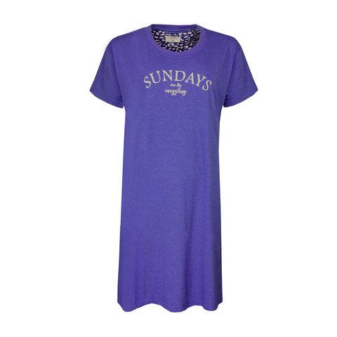 Irresistible  Dames  nachthemd slaapkleed  Blauw IRNGD1902A